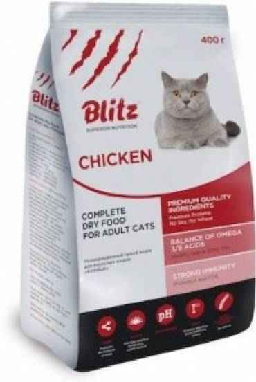 Blitz Complete Dry Food For Adult Cats — Курица
