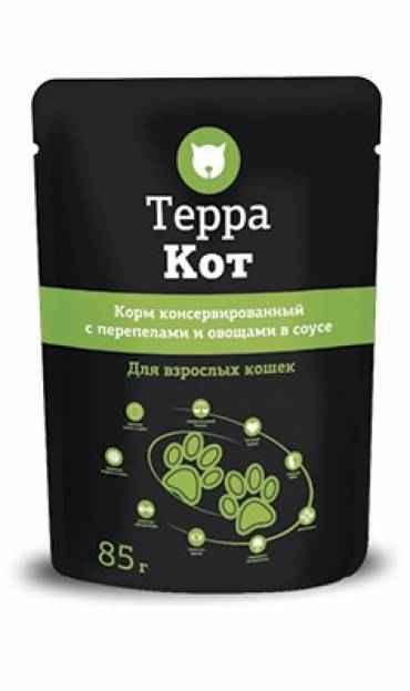 ТерраКот пауч для кошек с перепелами и овощами