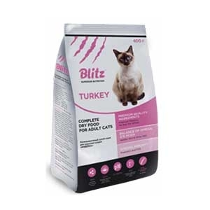 Blitz Complete Dry Food for Adult Cats — Индейка